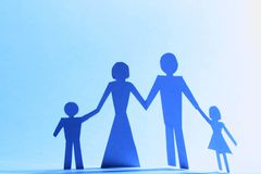 Family paper Royalty Free Stock Images