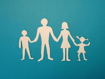 Family. Paper cutting Royalty Free Stock Photography
