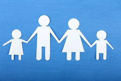 Family from paper Royalty Free Stock Photography