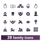 Family, Parenting And Childhood Vector Icons stock illustration