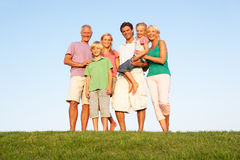A family, with parents, children and grandparents Royalty Free Stock Photos