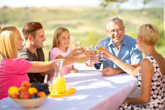 Family parents children togetherness Stock Photos