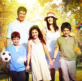 Family Parents Children Togetherness Holiday Concept Royalty Free Stock Images