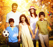 Family Parents Children Togetherness Holiday Concept Royalty Free Stock Photography