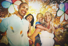 Family Parents Children Togetherness Holiday Concept Stock Photos