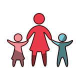 Family parents silhouette isolated icon. Illustration design Stock Image