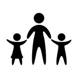 Family parents silhouette isolated icon. Illustration design Royalty Free Stock Photos