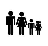 Family parents silhouette isolated icon Stock Images