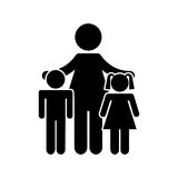 Family parents silhouette isolated icon Stock Photos