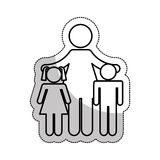 Family parents silhouette isolated icon Royalty Free Stock Photography