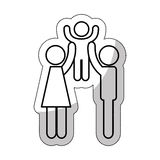 Family parents silhouette isolated icon. Illustration design Royalty Free Stock Image