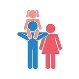 Family parents silhouette isolated icon. Illustration design Stock Photos