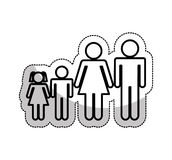 Family parents silhouette isolated icon. Illustration design Stock Photography