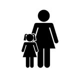 Family parents silhouette isolated icon. Illustration design Stock Photo