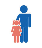 Family parents silhouette isolated icon. Illustration design Royalty Free Stock Images