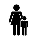 Family parents silhouette isolated icon. Illustration design Royalty Free Stock Photography