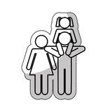 Family parents silhouette isolated icon. Illustration design Stock Images
