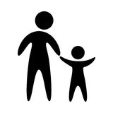 Family parents silhouette isolated icon. Vector illustration design Royalty Free Stock Photo