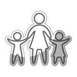 Family parents silhouette isolated icon. Vector illustration design Royalty Free Stock Photos