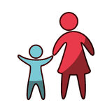 Family parents silhouette isolated icon. Vector illustration design Stock Image