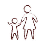 Family parents silhouette isolated icon. Vector illustration design Royalty Free Stock Image