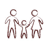 Family parents silhouette isolated icon. Vector illustration design Stock Photography