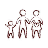 Family parents silhouette isolated icon. Vector illustration design Stock Photos