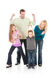 Family: Parents and Sister Cheer for Boy with Award Royalty Free Stock Photo