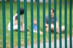 Family behind bars Royalty Free Stock Image