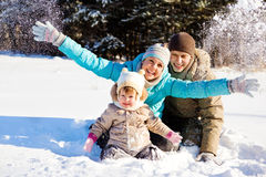 Family in park Stock Photography