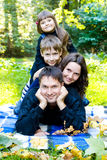 Family in the park Royalty Free Stock Photography