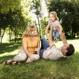 Family in park. Stock Photos