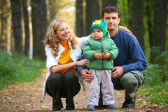 Family in park Stock Photos