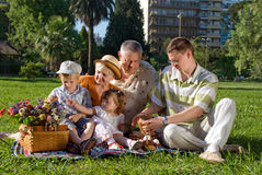 Family in park Royalty Free Stock Photo