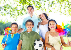 Family In A Park Enjoyment Concept Stock Image
