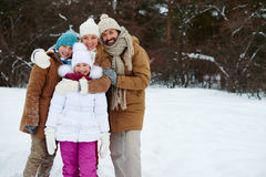 Family in park Stock Images