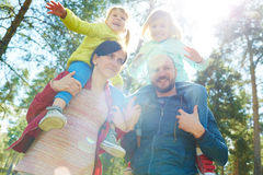 Family in park Royalty Free Stock Images