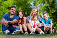 Family in park Royalty Free Stock Image