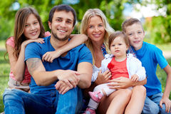 Family in park Royalty Free Stock Photo