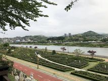 Family park in Samcheok-si. Family park in South Korea, Samcheok-si, where you can take pictures with beautiful roses. There is a rose park as well stock photo