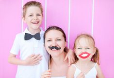 Family party portrait royalty free stock photo