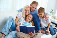 Family pastime Stock Images