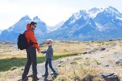 Family on patagonia Royalty Free Stock Photo