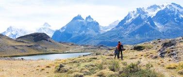 Family on patagonia Stock Image