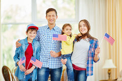 Family of patriots Stock Photos