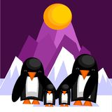 Family of penguins Royalty Free Stock Photos
