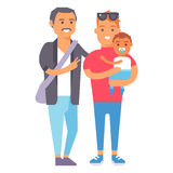 Family people adult happiness smiling group togetherness parenting concept and casual parent, cheerful, lifestyle happy. Character vector illustration. Healthy Royalty Free Stock Images