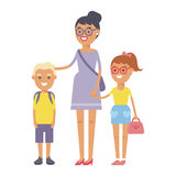 Family people adult happiness smiling group togetherness parenting concept and casual parent, cheerful, lifestyle happy. Character vector illustration. Healthy Royalty Free Stock Photo