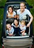 Family, People, Car, Looking Royalty Free Stock Images