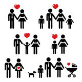Family people icons Stock Photo